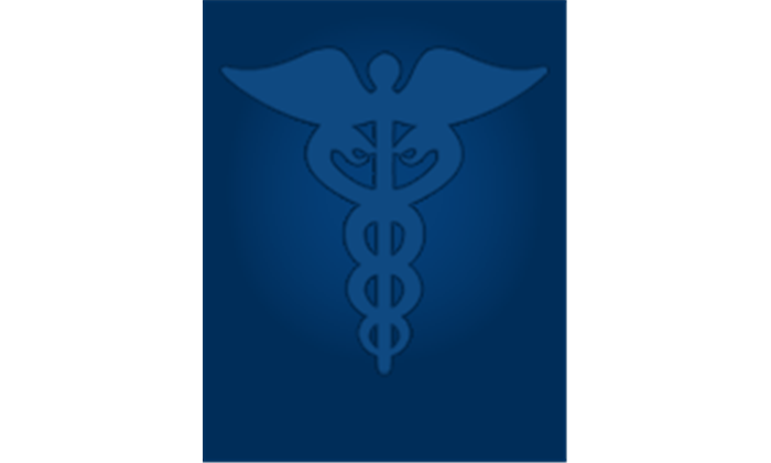 medical spiral cane with wings icon